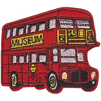 Union Jack London Bus Iron Sew on Embroidered Patch