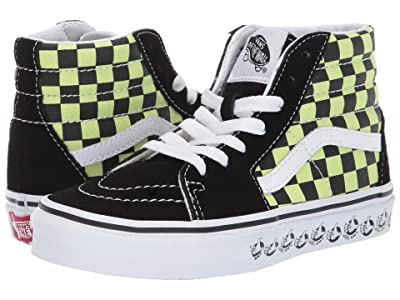 Vans Kids SK8-Hi (Little Kid/Big Kid) ((Vans BMX) Black/Sharp Green) Boys Shoes