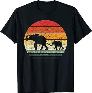Elephant Family Vintage Retro Design T-Shirt