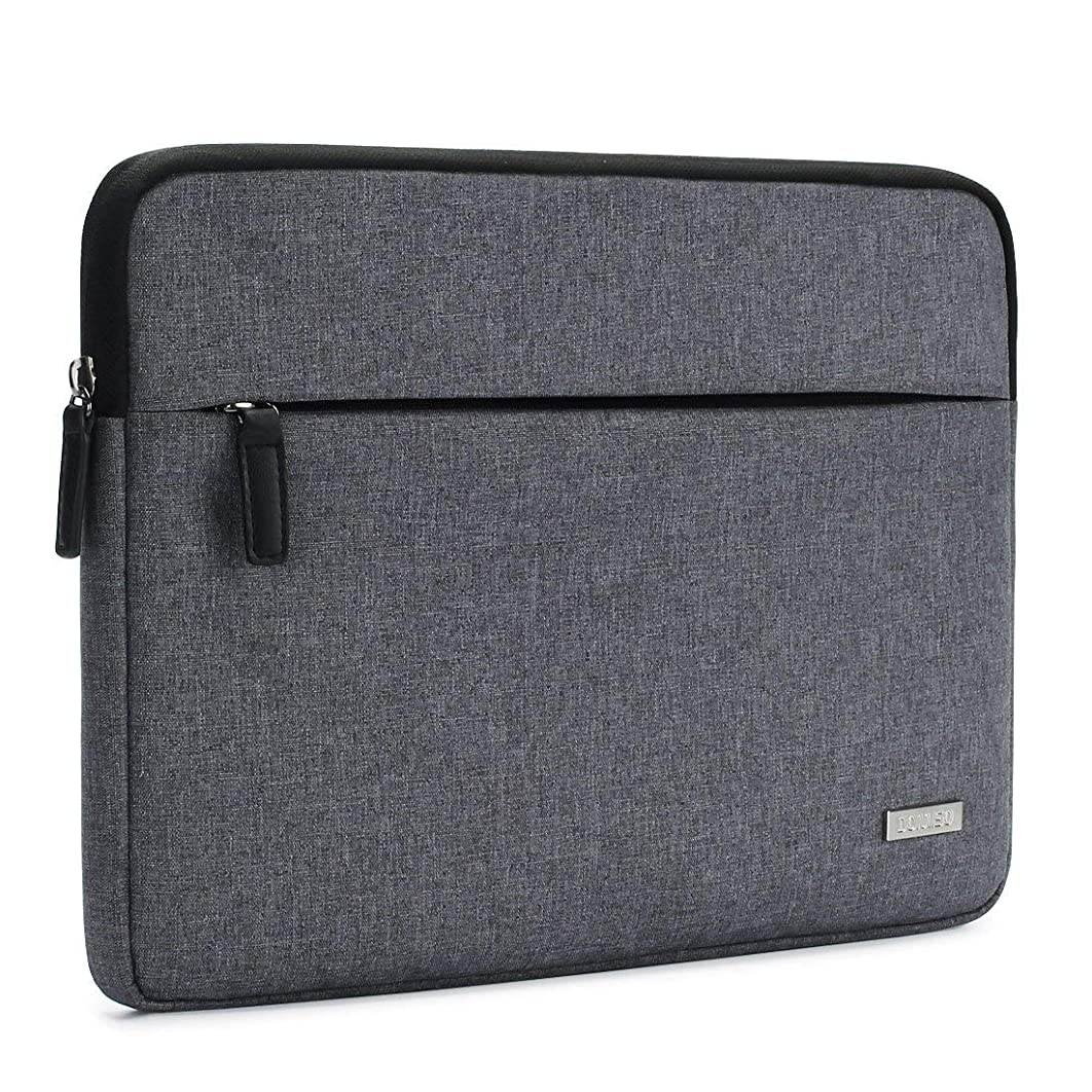 DOMISO Canvas Shockproof 14 Inch Laptop Sleeve Tablet Protective Case Notebook Anti-shock Padding Computer Bag for 14