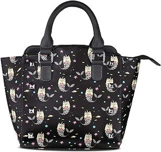 Womens Top-Handle Handbag Hunting Style Horse Rivet PU Leather Tote Crossbody Bag Shoulder Bag Purse