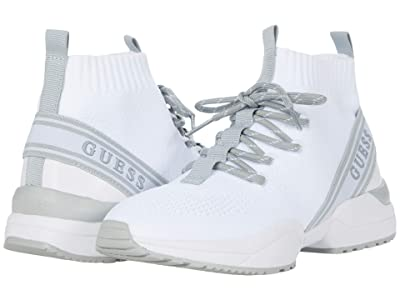 GUESS Brite (White/White/Light Grey) Women