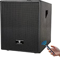 PRORECK Club B 12-Inch 3000 Watt 4-Channel Stereo DJ/Powered Subwoofer with Bluetooth/USB/SD Card/Mic Input/XLR Input/RCA Input& Output, Great for Home Theater/Concert/Club