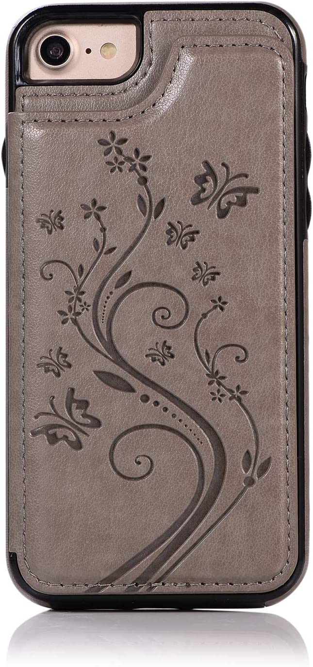 Back Wallet Case for Special price a limited Latest item time iPhone 7 8 QFFUN Stand Embosse Elegant with