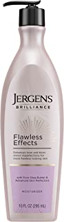 Jergens Brilliance Flawless Effects Body Moisturizer, for Balanced Skin Tone, 10 Ounce Pump, with Sheer Blush Pigments and...