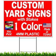 blink yard sign