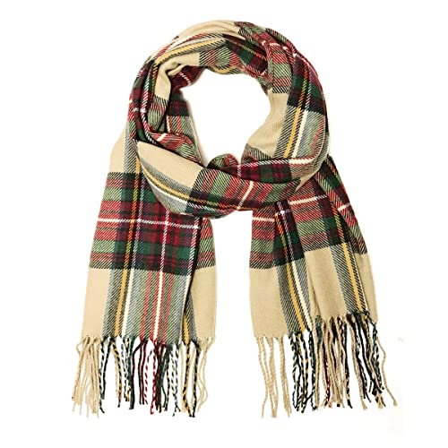 Buffalo Plaid Infinity Scarf Red Black Thick Warm Fleece Logger Check Winter NEW