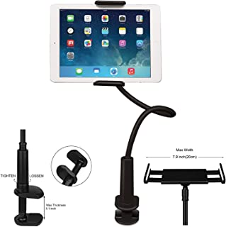 Cell Phone Stand Holder FeelPower Tablet Clip Holder Long Arm Gooseneck Flexible Lazy Bracket for ipad/iPhone Xs XR X/8/7/6 Plus Samsung Galaxy Tabs S8/S7 Series/Nintendo Switch/Amazon Kindle Fire HD