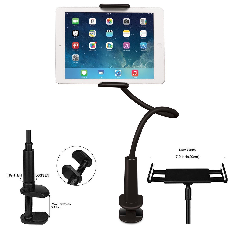 Soporte para teléfono móvil FeelPower Tablet Clip soporte de brazo largo cuello de cisne flexible soporte para iPad/iPhone X/8/7/6/6s Plus Samsung Galaxy Tabs S8/S7 Series/Nintendo Switch/Amazon Kindle Fire HD: Amazon.es: Instrumentos musicales