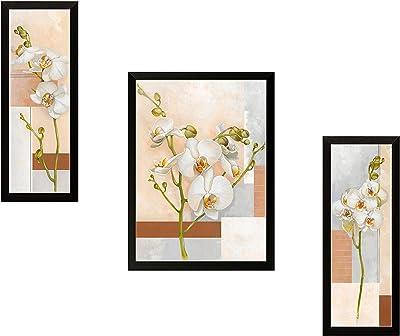 SAF Set of 3 Flower UV Textured Digital Reprint Painting 13.5 Inch x 22 Inch(6503) SANFSMM6503