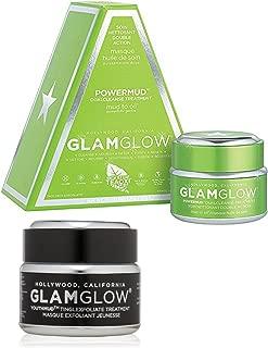 Bundle - 2 Items : GLAMGLOW Youthmud Tinglexfoliate Treatment, 1.7 Fl Oz & GLAMGLOW Power Mud Dual Cleanse Treatment, 1.7 Fl Oz