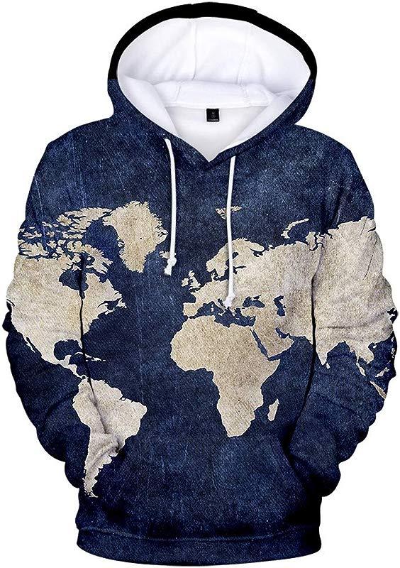 AcisuHu 3D Hoodies Men Women Long Sleeve Pullover Sweatshirt Casual All Over Printed Tracksuit Long Sleeve Tops