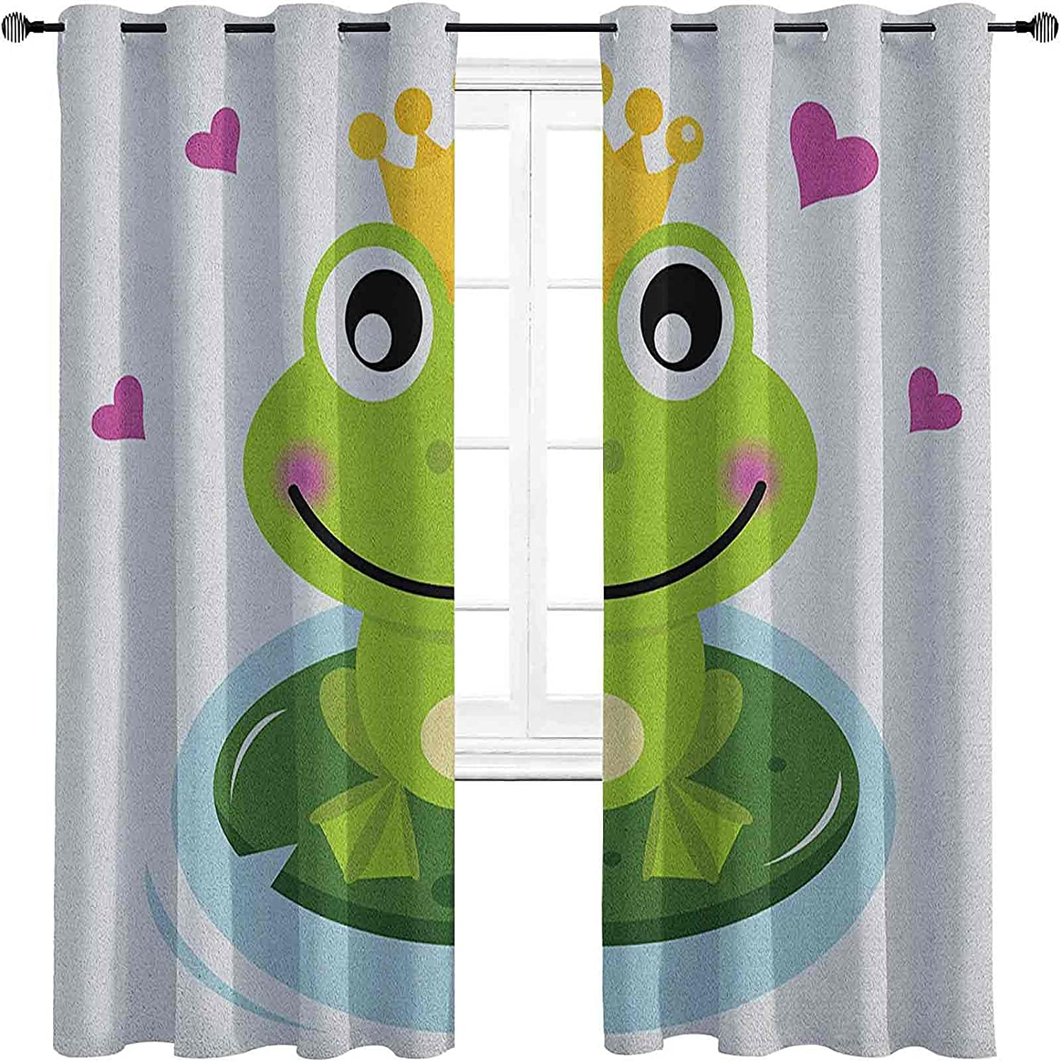 Animal Shading Insulated Curtain Cheap SALE Start Cartoon Frog Cheerful w Prince Special sale item