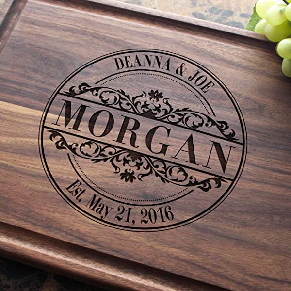 Round Vintage Personalized Engraved Cutting Board Wedding Anniversary Gifts Housewarming Keepsae Birthday Corporate Award Promotion 010