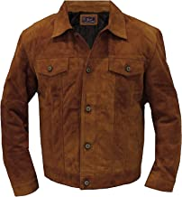 Mens Brown Suede Leather Logan Jacket - XO Leather Jackets for Men