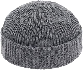 Fashion Retro Brimless Street Hip Hop Knitted Hat Women Men Acrylic Unisex Casual Solid Pumpkin Portable Cap
