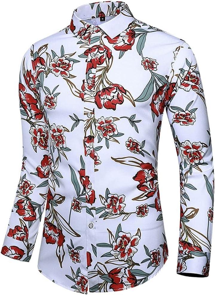 GYZCZX Ethnic Style Printed Shirt Men Button S Lapel Collar Philadelphia Mall High Ranking TOP9