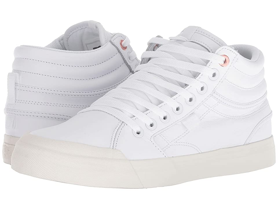 DC Evan Hi LE (White/White) Women's Skate Shoes