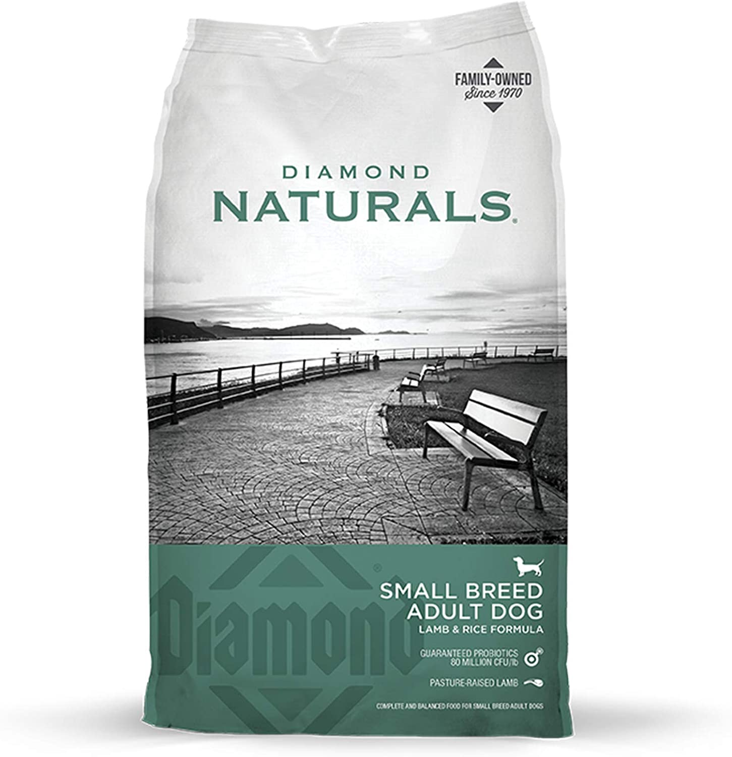 Diamond Naturals Dry Food for Adult Dogs, Small Breed Lamb and Rice Formula, 18 Pound Bag