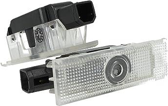 Proiettore auto,2 pezzi auto di benvenuto del portello decorative luci di entrata logo del proiettore 18 senza fili universale ombra del sensore magnetico luce di marchio per il portello auto