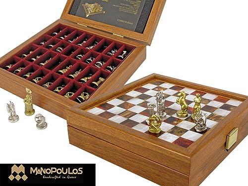 Manhatten 086-5016 G & j GP Sagittarius Chess Set de Prougeections pour chaises, Jeu de chaises, Jeu de chaises, en métal 15 x 15 cm 1,0 kg Qualité Premium Deluxe Box, Marinakis BROSS, Greece 086-5016