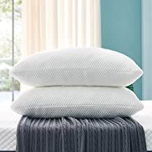OYT Queen Size Pillows 2 Pack, Shredded Memory Foam Bed Pillows for Sleeping Set of 2, Adjustable Loft Bed Pillows with Wa...