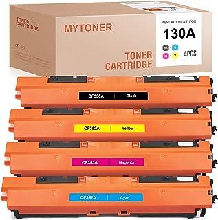 MYTONER Remanufactured Toner Cartridge Replacement for HP 130A CF350A CF351A CF352A CF353A for Color Laserjet Pro MFP M176...
