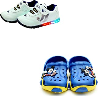 BOOMER CUBS LED Shoes & Croslite Clogs Combo