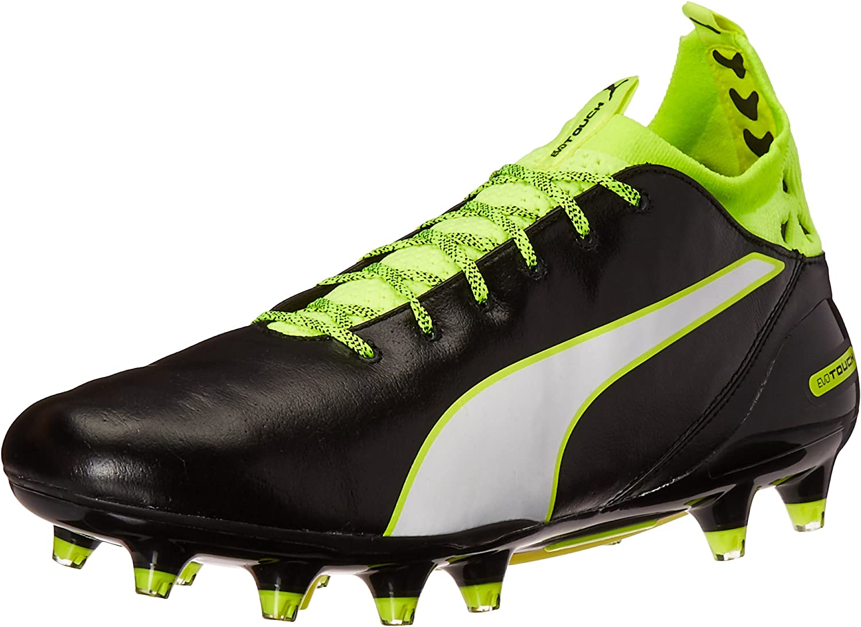 PUMA Men's Evotouch Pro FG Soccer Shoe, Black/White/Safety Grey, 11.5 M US B01IW4ZDC0  | Moderne Technologie