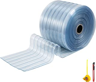 BestEquip Plastic Curtain Strips 148 Feet Length X 7.8 Inches Width Vinyl Door Strips 1 Roll PVC Door Curtain 0.08 Inch Thickness Clear Curtain Strip for Freezer Doors Warehouse
