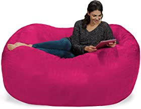 Extra Large 6' Fuf Comfort Suede Bean Bag Cover by Ink Craft (6 feet, Pink)