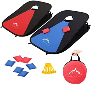 Best Himal Collapsible Portable Corn Hole Boards With 8 Cornhole Bean Bags  (3 x 2-feet) Review