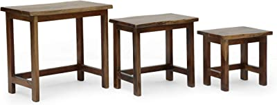 Christopher Knight Home Camba Nested Tables, Walnut