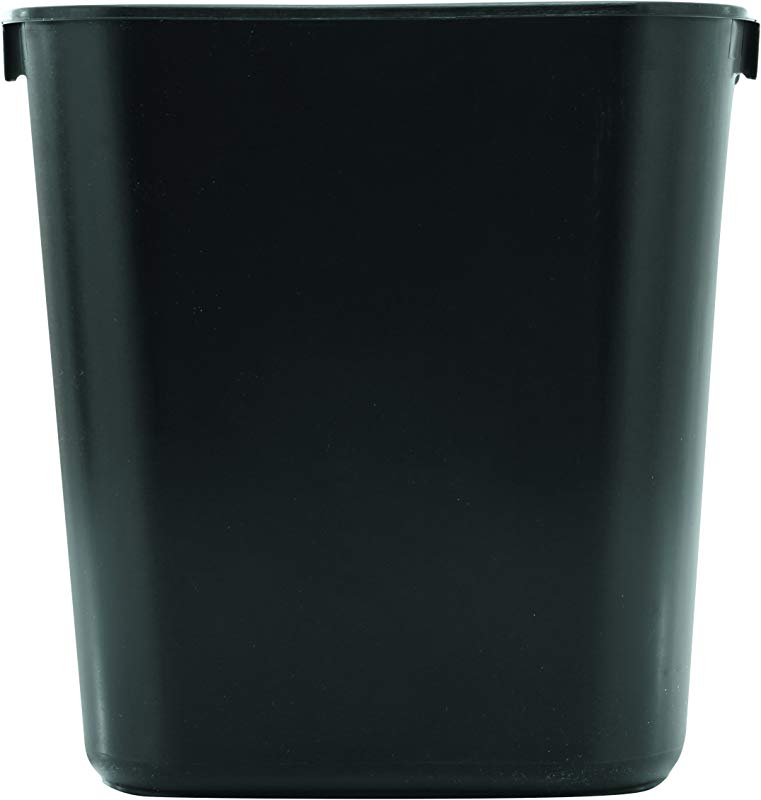 Rubbermaid Commercial Products FG295500BLA Plastic Resin Deskside Wastebasket 3 5 Gallon 13 Quart Black