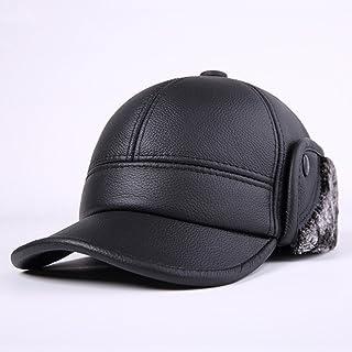 406bfc29bdc1 Hhpcspc Maschio Inverno Mantieni Spessi Caldo Outdoor Cuffia di Protezione  in Cotone cap di Pelle Cappello