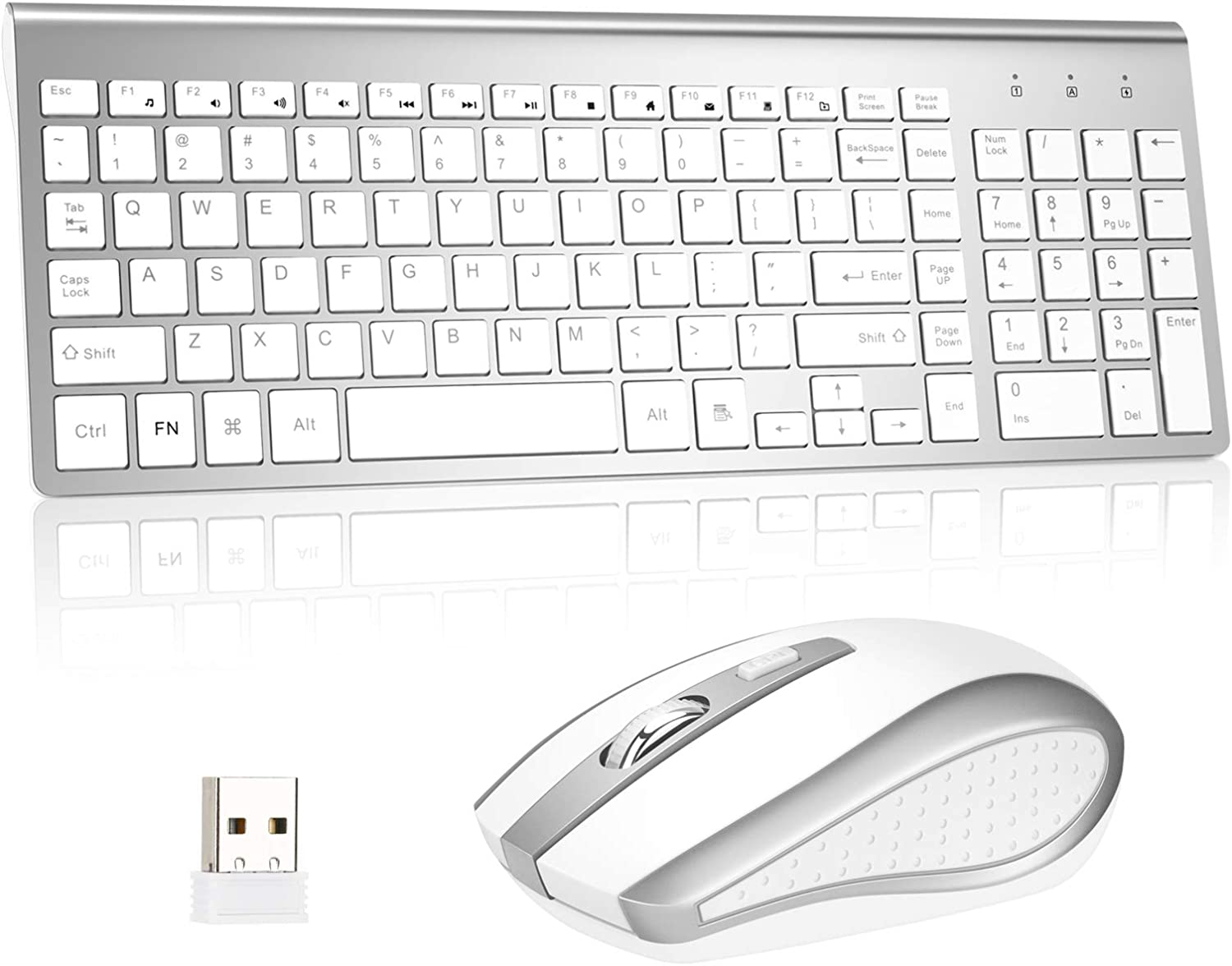 Wireless Keyboard and Mouse Combo 2.4G PC famous with Compatible Dedication MAC L