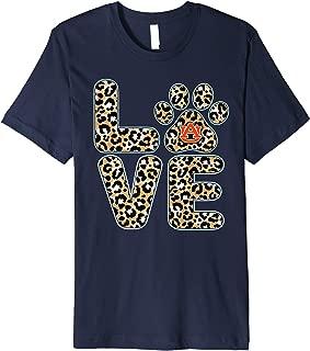 Auburn Tigers Love Paw Leopard Premium T-Shirt