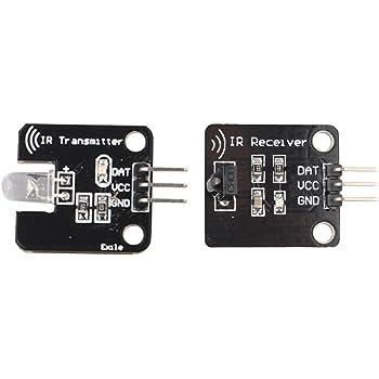 Haljia modulo sensore 38/kHz infrarossi IR ricevitore digitale con kit modulo trasmettitore per Arduino