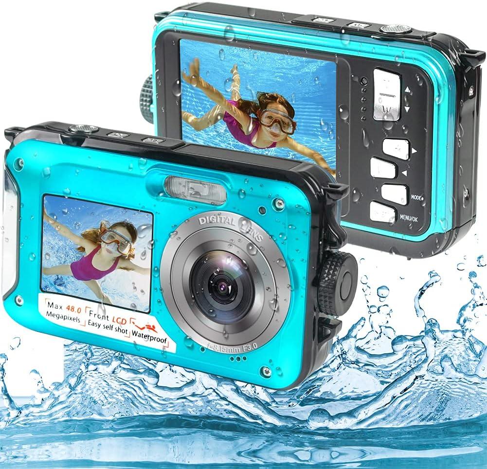 Underwater Camera Waterproof Full Waterproo 48MP Mail order San Antonio Mall HD 2.7K