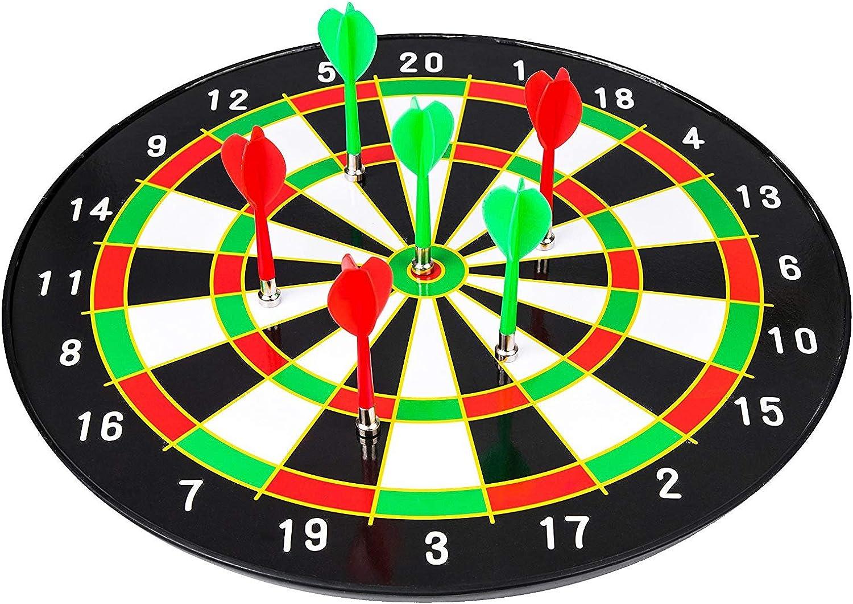 LIM Kinder 24.5 Zoll magnetische Dartscheibe mit 6 STK sichere Dartpfeile für Indoor und Outdoor, Sicherer Dartspiel für Kinder B07MVH1D59  Qualität und Quantität garantiert