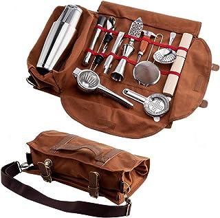 مجموعه ابزار کوکتل Fineshoky کیت Bartender Tote Bag قابل حمل , 14 قطعه ابزار نوار مجموعه کاملاً پر شده to حمل آسان به پیک نیک و سفر