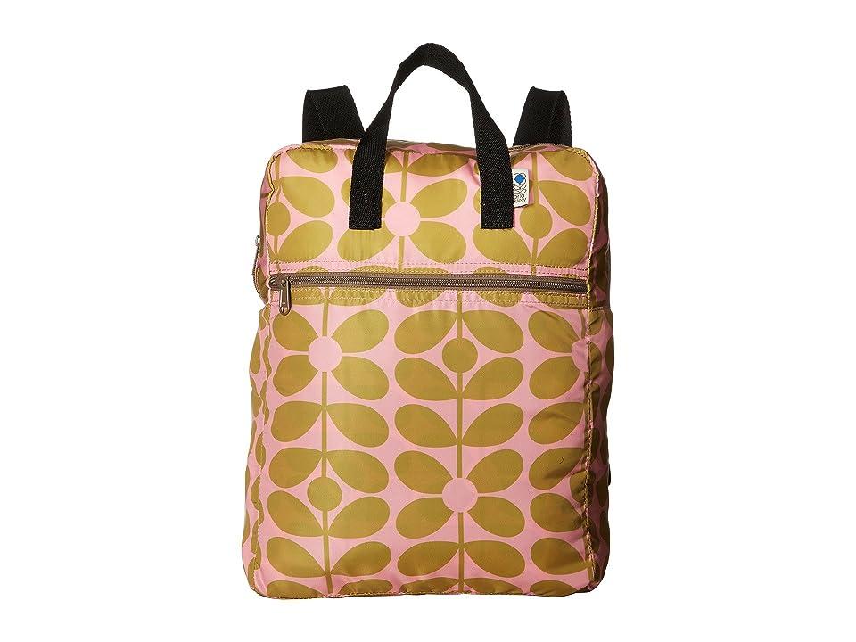 Orla Kiely Sixties Stem Packaway Backpack (Dandelion/Blush) Backpack Bags