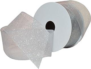 "Morex Ribbon Sugar Sheer Ribbon, 1.5"" x 25 Yd, Silver"