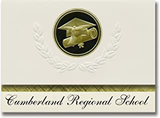 Signature Announcements Cumberland Regional School (Vineland, NJ) Graduation Announcements, Presidential style, Elite pack...