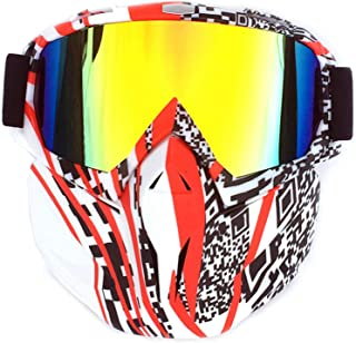 Aooaz Retro Mask Off Road Motorcycle Goggles Racing Car Outdoor Riding Ski Glasses Tactical Mask