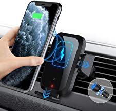 BILLKAQ Wireless Car Charger,15W 10W Qi Fast Charging Car Mount Charger Auto-Clamping Air Vent...