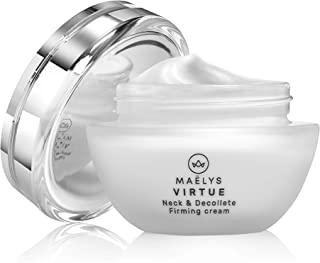 Virtue Neck and Décolleté Firming Cream | Anti Wrinkle, Anti Aging Neck Lift Lotion by MAELYS Cosmetics. 1.76 oz.