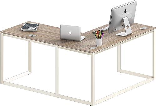 discount SHW Triangle-Leg outlet sale L-Shaped Home 2021 Office Computer Desk online sale
