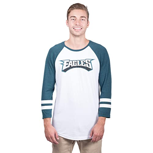ICER Brands NFL Men s T-Shirt Raglan Baseball 3 4 Long Sleeve Tee Shirt bc4342e15