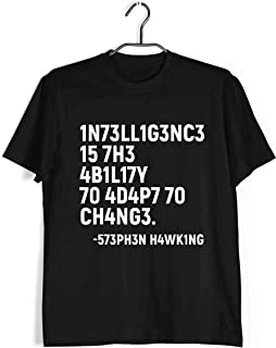 Aaramkhor Physics T-Shirt for Men | Intelligence is The Ability to Adapt to Change | Geeky Nerd | Regular Fit for Men Size...